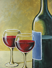 wine and canvas painting art event in fort lauderdale