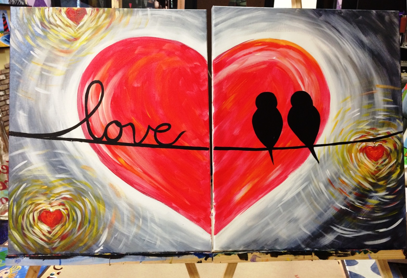 Valentines day couples canvas special art event in fort for Canvas painting classes
