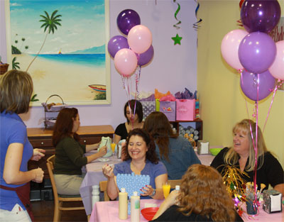 Paint Your Own Pottery Baby Shower Party at Joe Picasso's in Fort Lauderdale, Florida