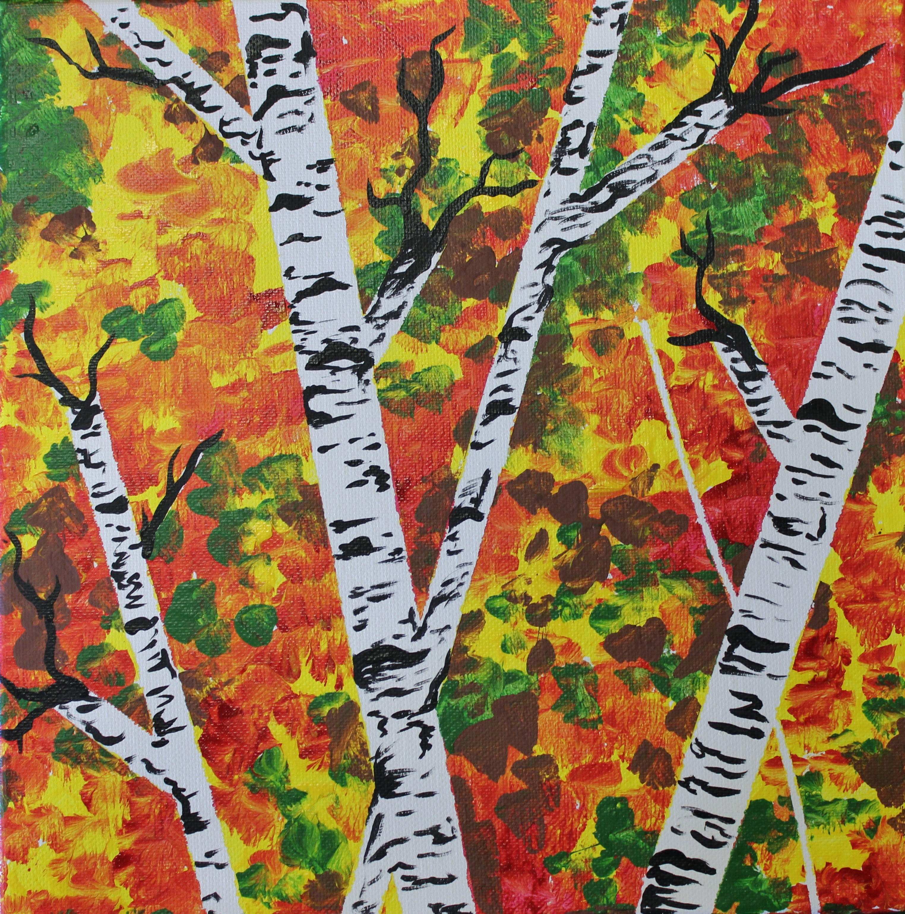 Fall Trees Step By Step Painting Acrylic